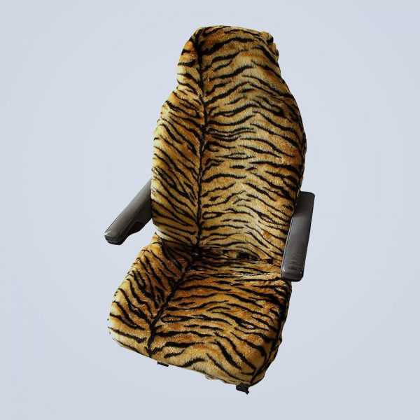 seat cover faux tiger