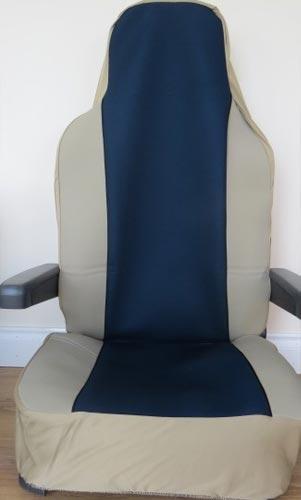 kensington seat cover - beige/blue
